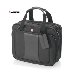 "Security friendly triple compartment 15.4"" laptop bag"